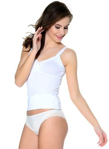 Blackspade Blackspade Tekli  İç Giyim Atlet Beyaz